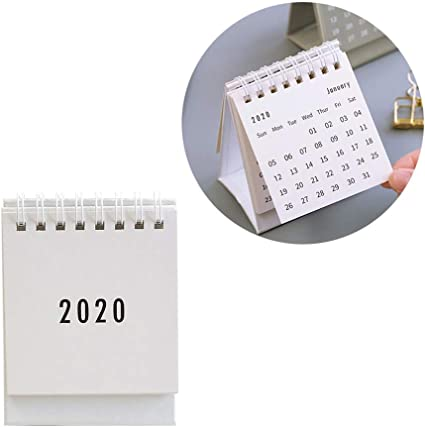NUOBESTY Calendario de escritorio 2020 1pc mini calendarios de ...