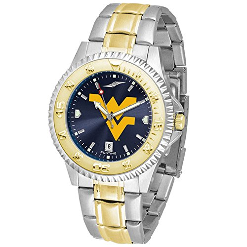 West Virginia Mountaineers Competitor Two-Tone AnoChrome Men's Watch (Competitor Watch Virginia)