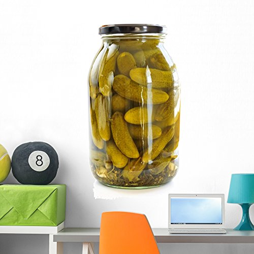 Wallmonkeys Jars Pickles Wall Decal Peel and Stick Graphic (36 in H x 24 in W) WM271302