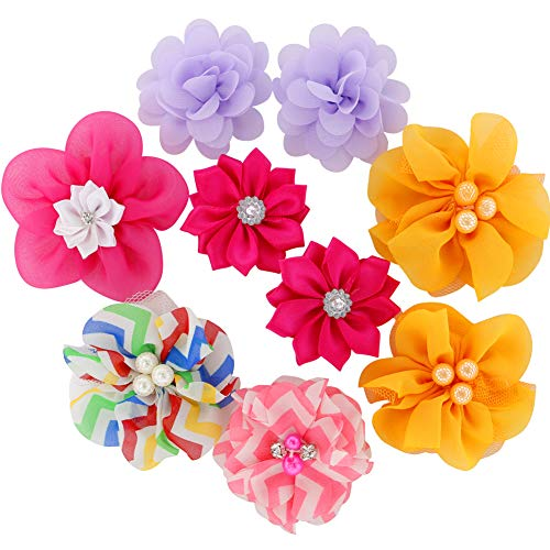 Grosgrain Ribbon Hair Bows Boutique Flowers Clips For Girls Teens Kids Toddlers Set Of 40 by Myamy (Image #1)
