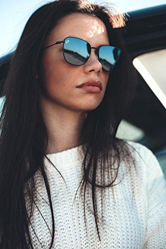 Transparent degradadas espejo TANNING Gafas mujer Rosa sol de Plata TWIG hombre qwUIvU