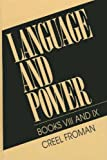 img - for Language and Power: Books VIII and IX book / textbook / text book