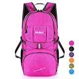 Bekahizar Lightweight Backpack 35L Hiking Daypacks Water Resistant Travel Day Bag Foldable and Packable for Outdoor Camping Walking Cycling Sports Day Trips (Rose Red) Review