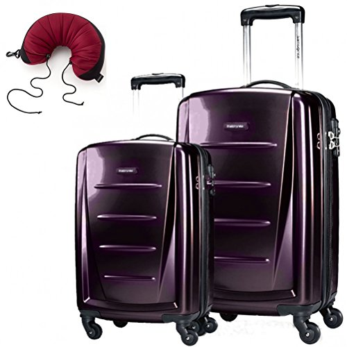 Fashion 2 Piece Set Spinner 24 and 28 With Travel Pillow (One Size, Purple) (Samsonite Garment Spinner)