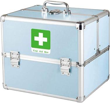 YXYXX Portátil Caja de Almacenamiento Médica,Metal Botiquín de Primeros Auxilios Hogar,Botiquín Tener Mango Multifuncional con Compartimento Viajar Conveniencia/azul / 330 x 230 x 265mm: Amazon.es: Bricolaje y herramientas