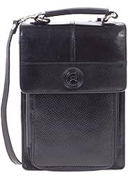 Club Rochelier Women's Leather Purse Organizer Wallet (Black)
