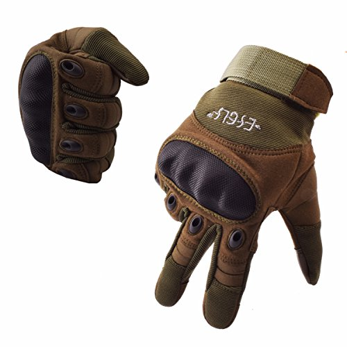 ESGLS Tactical Gloves Military Rubber Hard Knuckle Outdoor Gloves for Men Fit for Cycling Motorcycle Hiking Camping Power sports Airsoft Paintball
