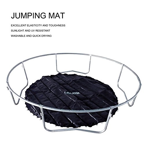Lejump Trampolines 10-Feet with Safety Pad & Enclosure & Net & Ladder & Optional Basketball Hoop for Kids