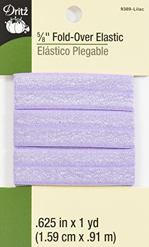 Dritz 9389 Fold-Over Woven Elastic, 5/8-Inch by 1-Yard, Lilac