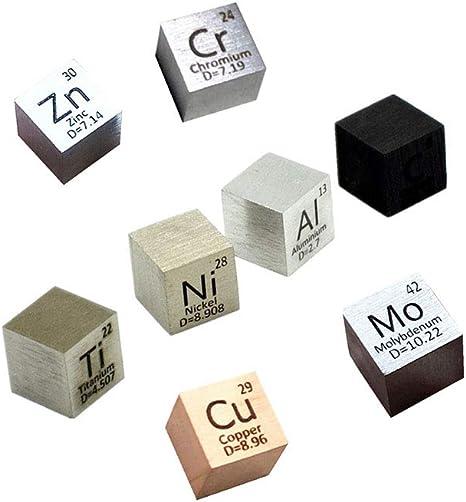Metal Cube 10mm Density 99.95/% for Element Collection C Al Ni Ti Mo Cu Fe Sn Cr Bi Co NbHand Made 4 DIY Hobbies Crafts Display,10MM CUBE ZINC