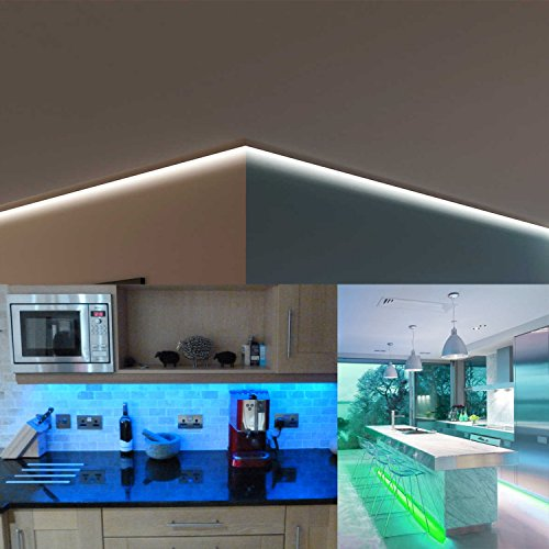 LED Strip Light, WEKSI Waterproof LED Tape Lights 300LEDs Lightstrip 32.8ft 10m Color Changing RGB 5050 LED Light Strip Kit with 44 Keys Remote Controller and 12V 5A Power Supply by Weksi (Image #5)