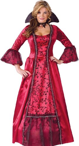 [Fun World Sexy Womens Medieval Vampire Halloween Costume S/M] (Adult Vampire Halloween Costumes)
