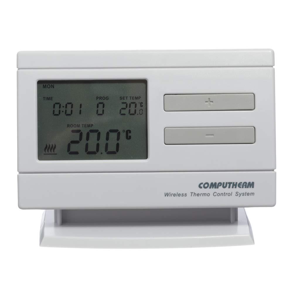 Wand-Thermostat kabellos /& digital mit 6 Programmen pro Tag Klimaanlagen /& Fu/ßbodenheizung COMPUTHERM Q7RF digitaler programmierbarer Funk-Raumthermostat f/ür Heizung