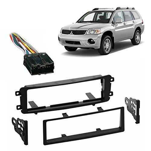 Fits Mitsubishi Endeavor 2004-2011 Single DIN Harness Radio Install Dash Kit ()