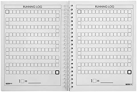 ProFit Fitness and Food Journal - Weight Loss Planner | Workout Log | Diet Notebook | Gym Exercise Diary - Easy-To-Use A5 Fit Book / 6x8 Inches / 140 Pages / Undated 7