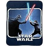 Jay Franco Star Wars Classic 62' x 90' Plush Blanket, Darth Vader & Luke Skywalker