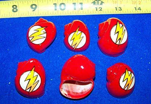 6 Hermit Crab Shells Painted Lightning Bolt Turbo #LK-1765