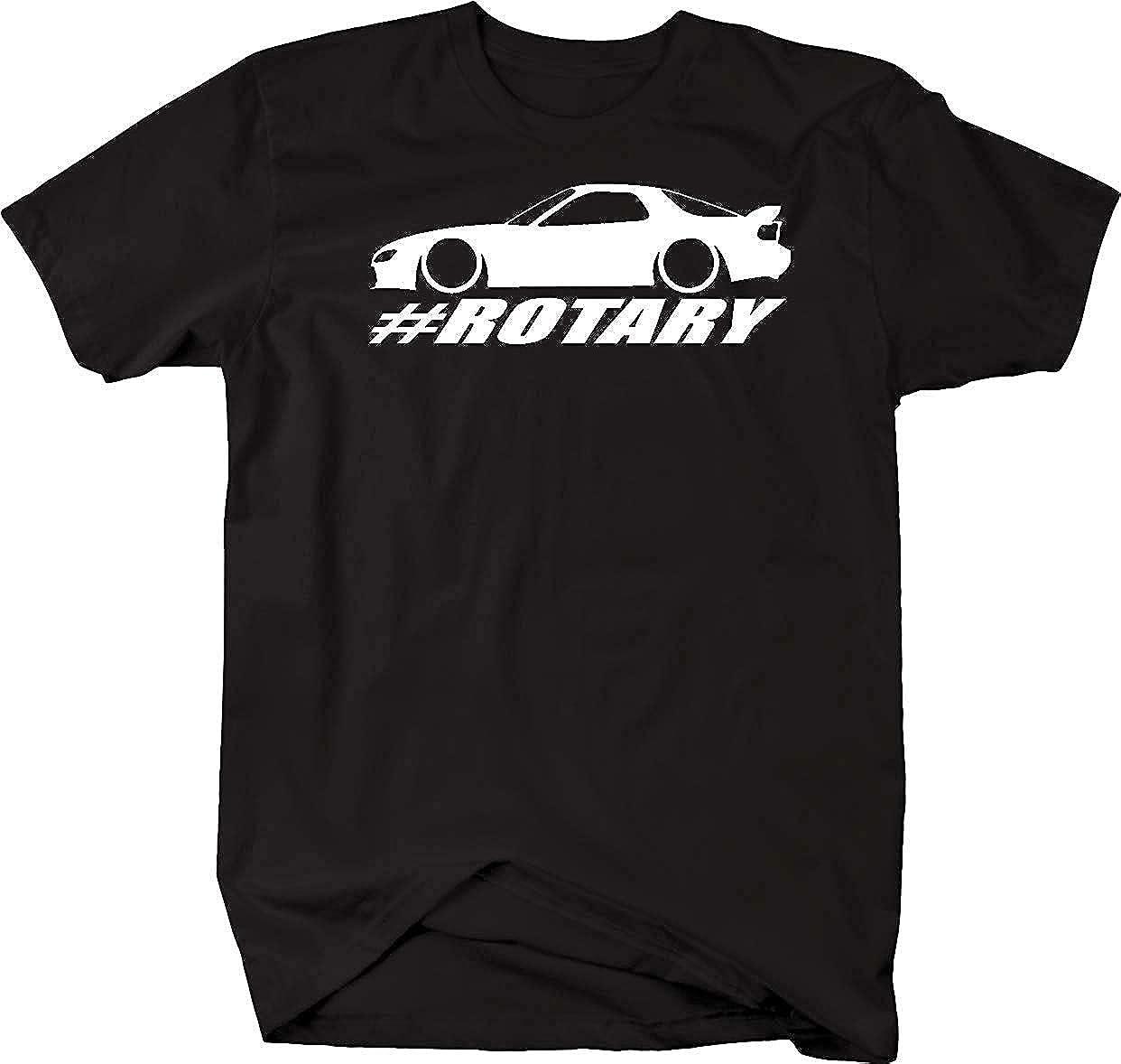 Mazda RX-7 Lowered Custom Rotary Engine Racing Mens T Shirt