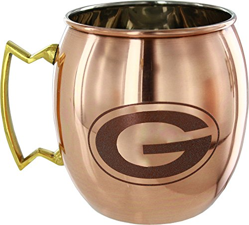 NFL Green Bay Packers Copper Moscow Mule Mug, Large/24-Ounce