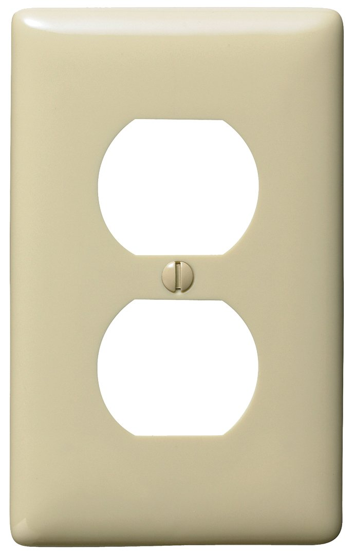 Bryant Electric NP8I 1-Gang 1-Duplex Nylon Wallplate, Ivory