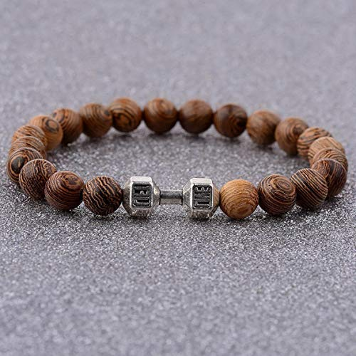 Gatton 8MM Wooden Beaded Crown Buddha Lion Star War Hamsa Hand Beaded Stretch Bracelets | Model BRCLT - 41294 | (Charity Locator)