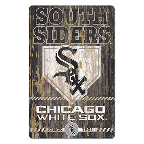 Wincraft MLB Chicago White Sox 11x17 Wood Sign, Team Color, One Size