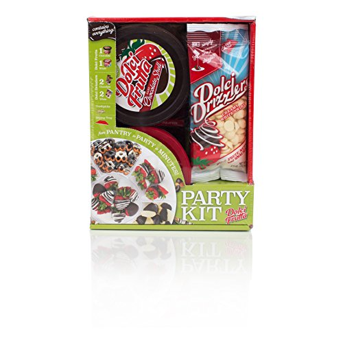 - Dolci Frutta Party Kit with Chocolate and White Chocolate Microwaveable Shells and Drizzlers, Nut-Free, Gluten-Free