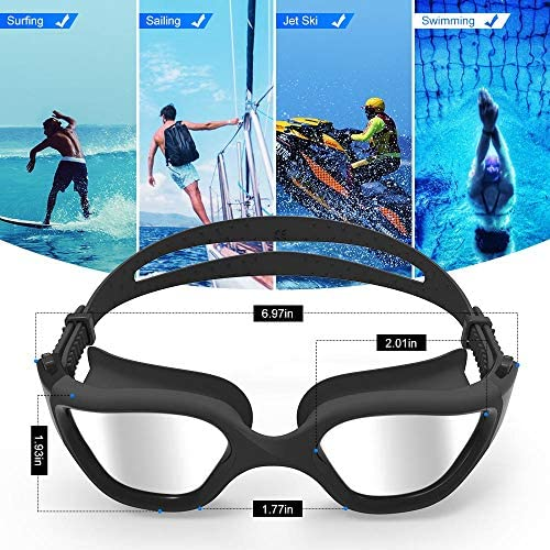 ZIONOR Swimming Goggles, G1 Polarized Swim Goggles UV Protection Watertight Anti-Fog Adjustable Strap Comfort have compatibility for Unisex Adult Men and Women