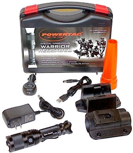 PowerTac Warrior Reloaded Law Enforcement 700 Lumen Flash...