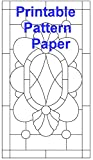 "Pipers Pattern Paper Pre-Cut 8 1/2"" X 11"" Printable Self Adhesive Card Stock Thickness Sheets - Quantity 10 - DIY Construction of Stained Glass and Woodwork Projects Made Easier - Water Resistant"