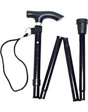 Life Healthcare Walking Stick, Flexible and Durable Walking Aid, Collapsible Walking Stick and Mobility Aid, Adjustable from 33-37 inches, Black