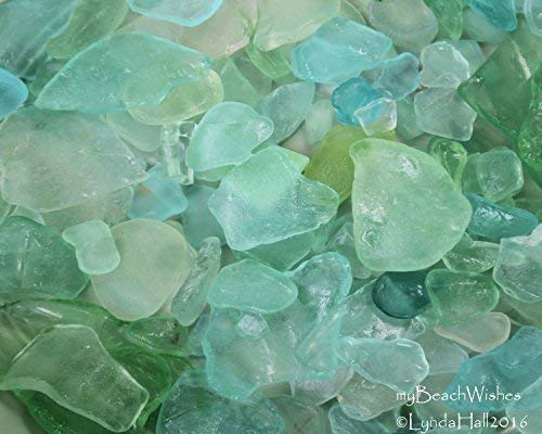 Beach Glass Photography- Calming Aqua Wall Art from the Sea