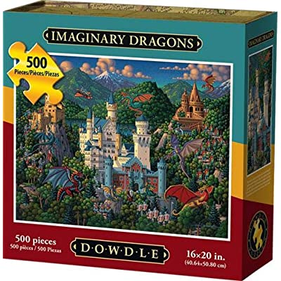 Dowdle Jigsaw Puzzle - Imaginary Dragons - 500 Piece: Toys & Games