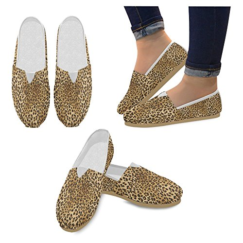 Sneakers InterestPrint Jane Loafers Mary Slip Casual Canvas Leopard On Classic Fashion Shoes Womens Flat rrqF6xwZSz