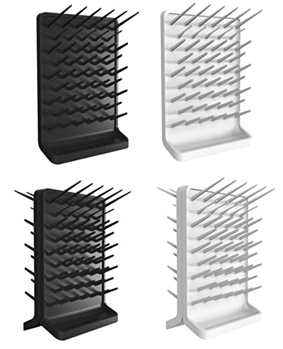 Azzota Pegboard Bench-top/Wall-Mount Laboratory Glassware Drying Rack with 50 Pegs, White