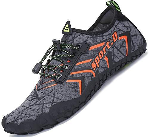 efd5155ef Mens Women Water Sport Shoes Barefoot Quick-Dry Aqua Socks for Beach Swim  Surf Yoga Exercise