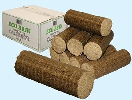 Confezione tronchetto legno pressato da 18 Kg combustibile per stufa camino