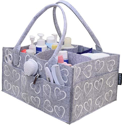 Bablee Boo! Diaper Caddy | Portable Nursery Storage | Large Organizer for Boys & Girls | Baby Shower Gift Basket | Newborn Baby Registry Must Haves |