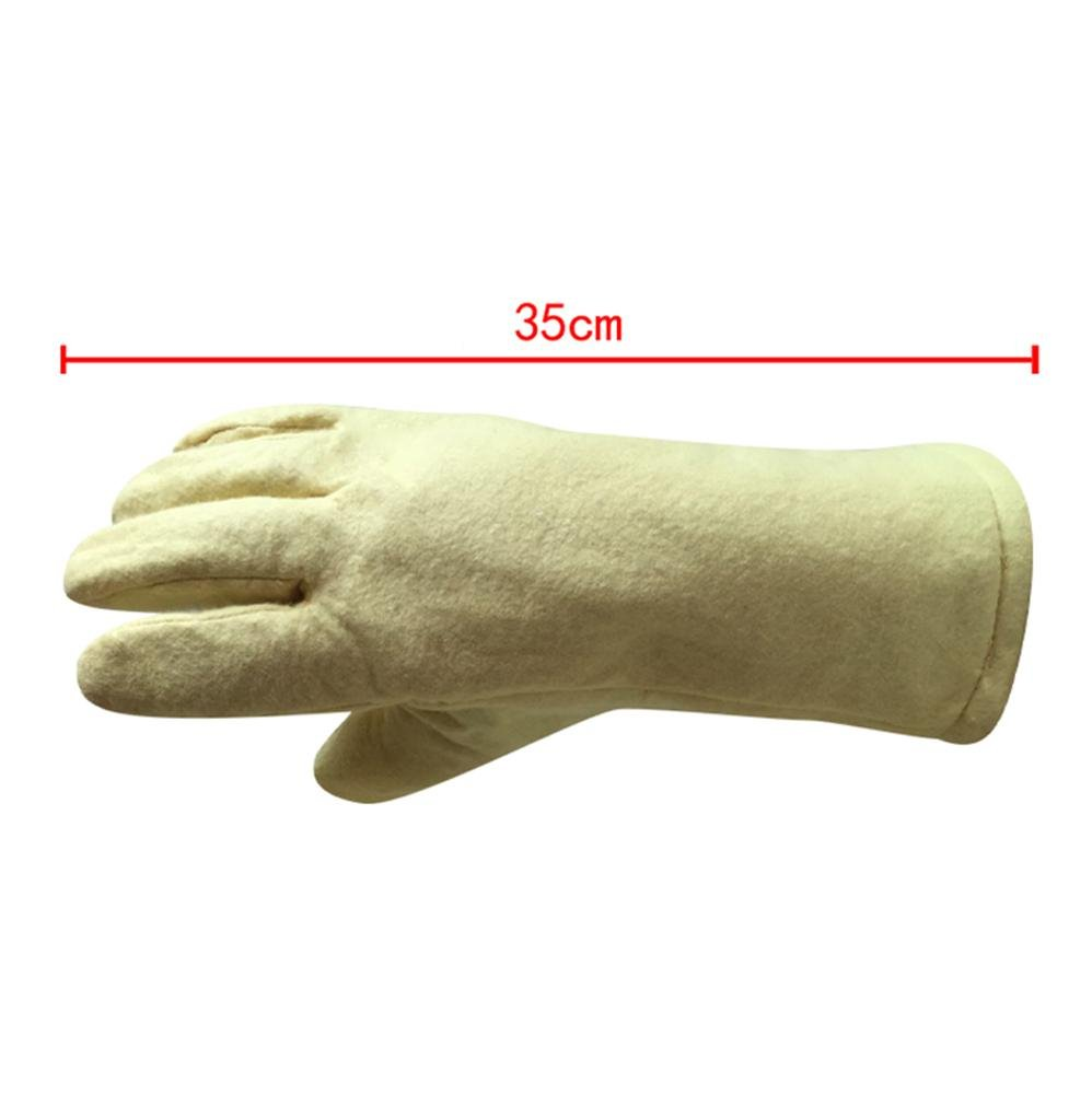 High temperature gloves 500 ? thermal insulation steel plant casting labor insurance products baking oven anti - hot safety protection by LIXIANG (Image #3)