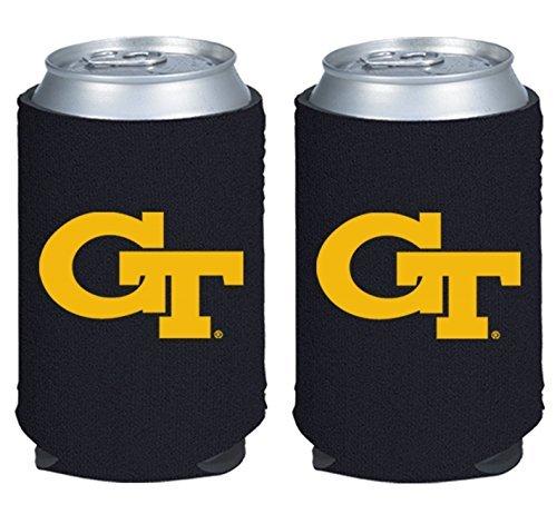 NCAA College 2014 Team Logo Color Can Kaddy Holder Cooler 2-Pack (Georgia Tech) (Tech Kaddy)