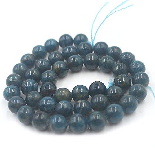 SR BGSJ Jewelry Making AAA Grade Natural 10mm Round Apatite Stone Gemstone Spacer Beads Strand - Strand Apatite