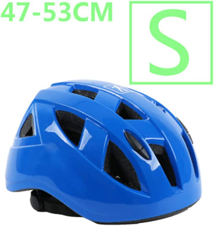 YWZQ Ciclo de Seguridad Casco Protector pequeños tamaños, para el niño MTB monopatín de Bicicletas Vespa Hoverboard Montar a Caballo Ligero Ajustable y Transpirable,Azul,S