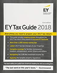Minimize your tax and maximize your 2017 return The EY Tax Guide 2018 offers professional guidance for DIY tax prep. As one of the nation's most trusted resources for tax advice, this book can help you keep more of your money while filing com...