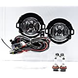 2005 2006 2007 2008 2009 2010 2011 2012 2013 2014 Nissan Xterra Replacement for 999F1-KV000 Fog Light Lamps for Plastic Bumper Clear wiring switch included