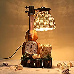 Creative Lamps Retro process head personality clocks students the bedrooms are small ornaments, lamp 30cm, Height button switch