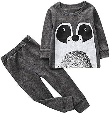 feiXIANG Bebé niño y Traje de niño Descuento Conjunto de Sudadera Niños y niñas de Dibujos Animados Animal Print Tops + Pants Conjunto de Dos Piezas
