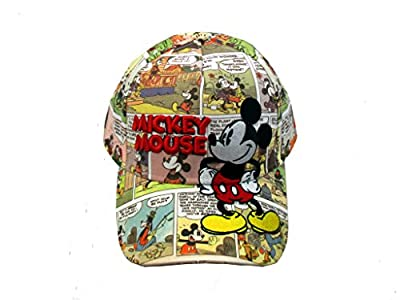 Disney Adult Mickey Mouse Comic Prints Baseball Cap by GiftsNBeyond