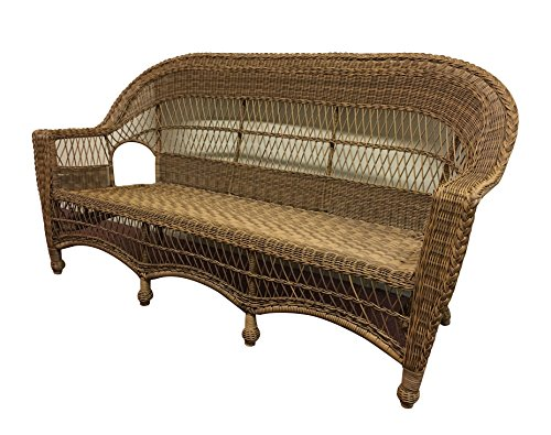 Wicker Paradise CC3-N Madison Outdoor Loveseat, Natural/No Cushion