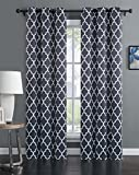Cheap Geneva Home Fashion Avondale Manor Madrid Panel Pair Curtains, Grey