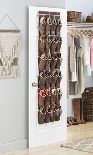Whitmor Over The Door Shoe Shelves - 26 Sections - Java